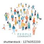 modern multicultural society... | Shutterstock .eps vector #1276352233
