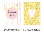 bridal shower card with dots... | Shutterstock .eps vector #1276365829