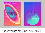 music poster set. electronic... | Shutterstock .eps vector #1276367623