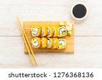 california maki rolls sushi on...   Shutterstock . vector #1276368136