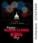 happy martin luther king day... | Shutterstock .eps vector #1276375630