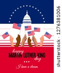 happy martin luther king day... | Shutterstock .eps vector #1276381006