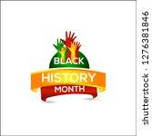 black history month vector... | Shutterstock .eps vector #1276381846