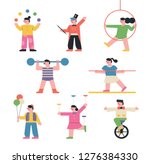 a set of circus characters... | Shutterstock .eps vector #1276384330