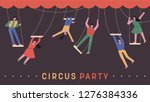 a set of circus members holding ...   Shutterstock .eps vector #1276384336