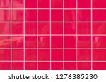 red stone brick wall background ... | Shutterstock . vector #1276385230