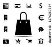 shopping bag icon. simple glyph ...