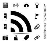 signal icon. simple glyph...