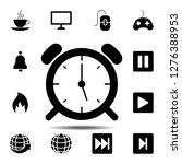 wake up clock logo templateicon....