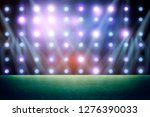 lights at night and stadium 3d... | Shutterstock . vector #1276390033