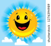 smiling happy sun | Shutterstock .eps vector #1276394989