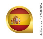 flag of spain  location map pin ... | Shutterstock .eps vector #1276400866