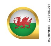 flag of wales  location map pin ... | Shutterstock .eps vector #1276401019