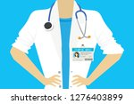 female doctor with plastic id... | Shutterstock .eps vector #1276403899