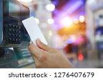 keycard and digital door lock ... | Shutterstock . vector #1276407679