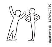 tell jokes icon. element of... | Shutterstock . vector #1276417750