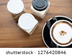 a cup of coffee with sugar and... | Shutterstock . vector #1276420846