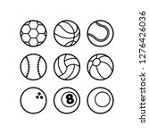 cartoon set of balls in black... | Shutterstock .eps vector #1276426036