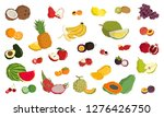 set of fruits in whole and... | Shutterstock .eps vector #1276426750
