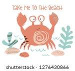 Crab Baby Cute Print. Sweet Se...