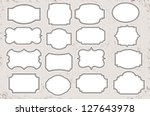 vintage blank label set | Shutterstock .eps vector #127643978