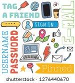 social media background in... | Shutterstock .eps vector #1276440670