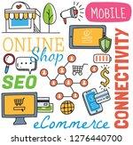 social media background in... | Shutterstock .eps vector #1276440700