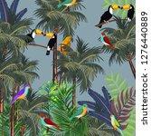 birds combined with green...   Shutterstock .eps vector #1276440889