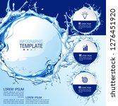 infographics business chart... | Shutterstock .eps vector #1276451920