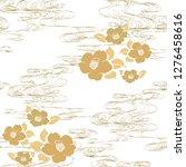 japanese wave hand drawn... | Shutterstock .eps vector #1276458616