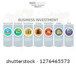 infographic template with steps ...   Shutterstock .eps vector #1276465573