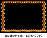 decorative frame of 3d cubes... | Shutterstock . vector #127647050