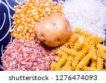 various carbohydrate source  | Shutterstock . vector #1276474093