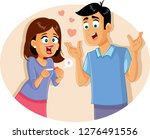 young couple with positive... | Shutterstock .eps vector #1276491556