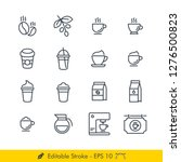 coffee related icons   vectors... | Shutterstock .eps vector #1276500823