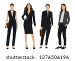 vector of young  business woman ... | Shutterstock .eps vector #1276506196