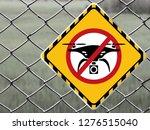No Drone Zone Warning Sign At...