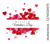 happy valentines day and... | Shutterstock .eps vector #1276520470