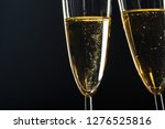 champagne glasses for festive... | Shutterstock . vector #1276525816