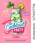 cocktail party poster in... | Shutterstock .eps vector #1276527736