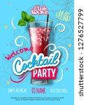 cocktail party poster in... | Shutterstock .eps vector #1276527799