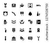 vector illustration of 25 icons.... | Shutterstock .eps vector #1276528750