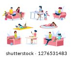 people sitting on sofa or desk  ... | Shutterstock .eps vector #1276531483