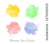 watercolor paint set. colorful... | Shutterstock .eps vector #1276532413
