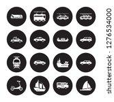 16 vector icon set   truck ... | Shutterstock .eps vector #1276534000