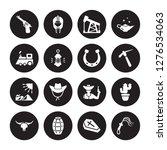 16 vector icon set   revolver ... | Shutterstock .eps vector #1276534063