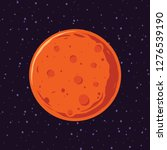 cartoon of mars  solar system...   Shutterstock .eps vector #1276539190