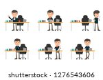collection set of business man... | Shutterstock .eps vector #1276543606