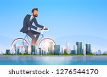 businessman riding bicycle...   Shutterstock .eps vector #1276544170