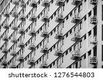 line pattern of architecture...   Shutterstock . vector #1276544803